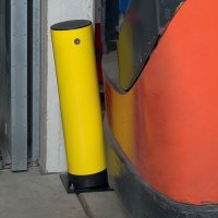 Damage Reducing High-Impact Swing Bollard