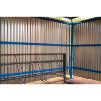 Traditional Cycle Shelter with Galvanised Sheet Steel Sides