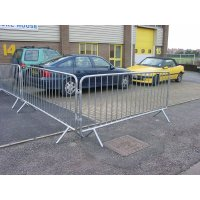 Versatile Heavy-Duty Galvanised Steel Crowd Barrier
