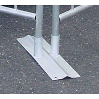 Robust, anti-trip bases for crowd control barriers