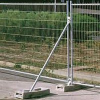 Fence stabiliser bar for anti-climb mesh panel fencing