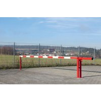 Aluminium and steel fixed-post boom barrier