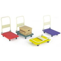 Plastic lightweight standard platform trolleys