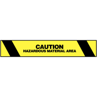 Highly Visible Hazardous Material Warning Tape