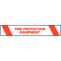 Highly Visible Warning Tape - Fire Protection Equipment