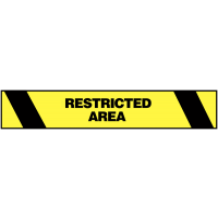 Highly Visible Restricted Area Warning Tape