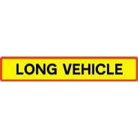 Long Vehicle' Vehicle Rear Marking Plate