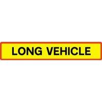 Long Vehicle' Vehicle Rear Marking Plate