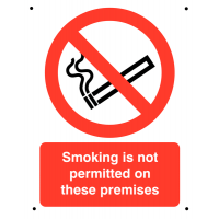 No Smoking Symbol Sign With Smoking Not Permitted Wording - Tough & Vandal Proof