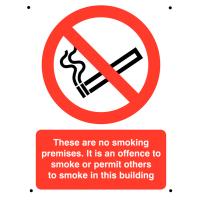 Vandal-resistant Aluminium No Smoking Sign