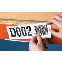 Self-adhesive clear plastic identification ticket holders