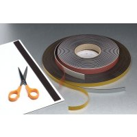 Easy-to-use magnetic self-adhesive strips