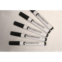 Black Wet Erase Wet Wipe Marker Pens
