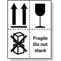 Easy-to-Understand 'Fragile: Do not stack' Packaging Labels