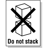 Self-Adhesive 'Do Not Stack' Packaging Label Roll
