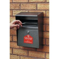 Wall-Mounted Sturdy Metal Cigarette Disposal Bins