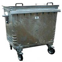 4-wheeled large capacity waste bin with locking lid