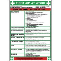 Clear and up-to-date 'First Aid at Work' wallchart