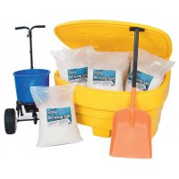 Weather-resistant car park de-icing kit