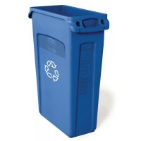 Rubbermaid Slim Jim Polyethylene Recycling Waste Container with Vents