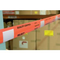 Highly visible, quality control barricade tapes
