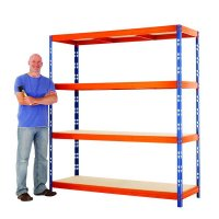 Durable Powder-Coated Steel Easy-Assembly Racking