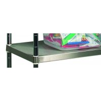 Extra solid shelves for stainless steel wire shelving unit
