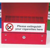 Wall-mounted ash bin self-adhesive label