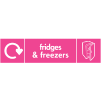 Fridges & Freezers WRAP Electrical Recycling Point Signs