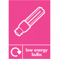 Low Energy Bulbs Colour-Coded Electrical Recycling Signs