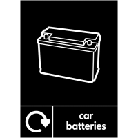 Weather-Resistant Car Batteries Recycling Sign