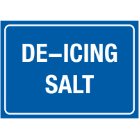 De-Icing Salt Storage Information Signs