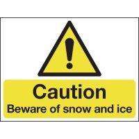 Rigid foam plastic snow and ice warning signs