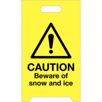 Easy to assemble snow and ice warning 'a' boards