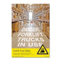 Colourful and Bright 'Danger! Forklift Trucks In Use' Safety Posters