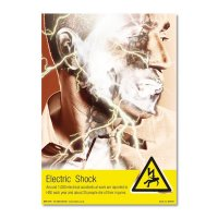 Clear electric shock risk awareness posters