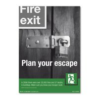 Plan Your Escape' Emergency Evacuation Poster in Durable Materials