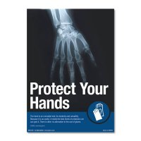 Eye-catching 'Protect Your Hands' Safety Poster