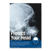 Striking 'Protect Your Head' Safety Poster