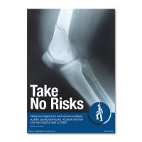 Eye-Catching 'Take No Risks' Safety Poster