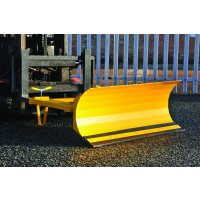Universal forklift truck snow plough attachment