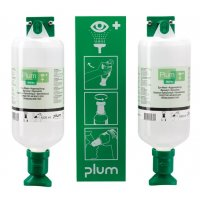 Plum Eye Wash Station with 2 Litres of Saline Eye Wash Solution