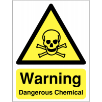 High-Quality Reflective 'Warning Dangerous Chemical' Sign