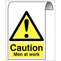Aluminium Roll-top Sign - Caution Men At Work