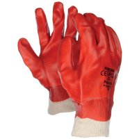 Protective and Comfortable Polyco Red PVC Coated Gloves