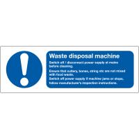 Waste Disposal Machine Advisory Sign