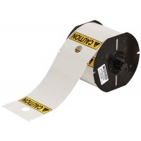 Pre-printed caution tag roll made from durable polyester