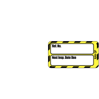 Highly visible Scafftag electrical equipment tag replacement inserts