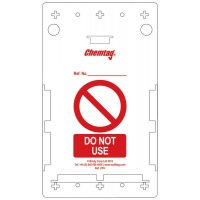 Clearly visible Scafftag® Chemtag replacement holders