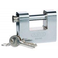 Rust and tamper resistant steel clad shutter padlock